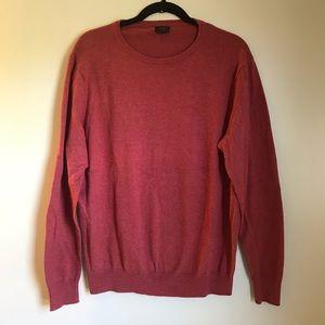 J.Crew Red Cotton Cashmere Crewneck Sweater